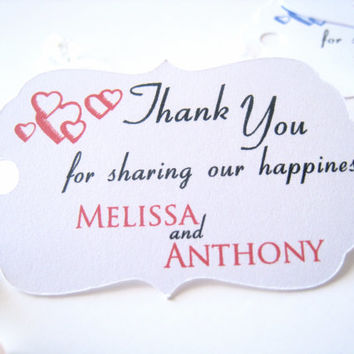 Wedding favor tags I Party favor tags I Engagement favor tags I Gift tags I Favor tags I Thank you tags - 30 count
