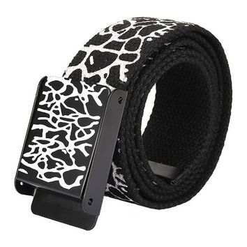 Men Women Crack Explosion Thickened Canvas Smooth Pure Cotton Sports Belts