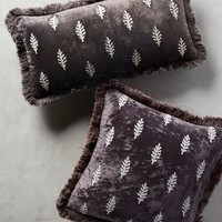 Embroidered Leaves Pillow by Anthropologie