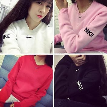 Embroidery Pullover Winter Alphabet Simple Sports Hoodies [11533041868]