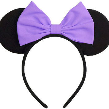 Daisy Duck Ears Headband Purple Daisy Duck Bow Daisy Duck Halloween Costume Minnie Mouse Ears Mickey Mouse Ears Mickey Ears Halloween Ears