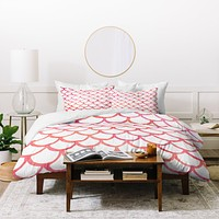Social Proper Scalloppy Duvet Cover