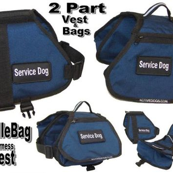 Working Service Dog - Two piece saddlebag harness vest