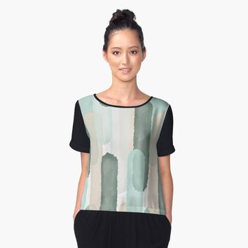 'Relief #redbubble #abstractart' Women's Chiffon Top by designdn