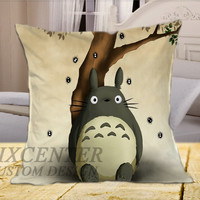 Totoro My Neighbor  on Square Pillow Cover