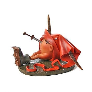 Fat Belly Monster with Dagger Fantasy Figurine by Hieronymus Bosch Parastone 4L