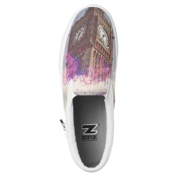 City in Nebula ZIPZ Sneakers