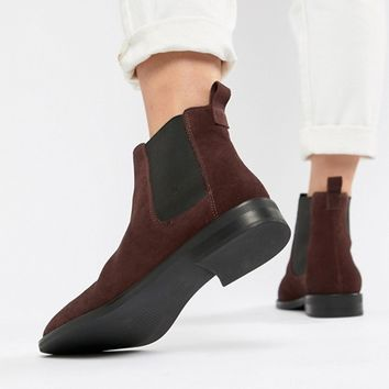 ASOS DESIGN Aura suede chelsea ankle boots at asos.com