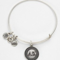 Women's Alex and Ani 'Delta Zeta' Expandable Wire Bangle - Silver