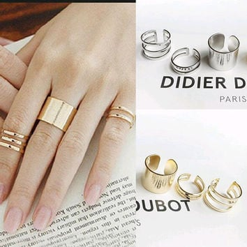 3Pcs. / Set. Fashion Top Of Finger Over The Midi Tip Finger Above The Knuckle Open Ring For women Fashion Jewelry