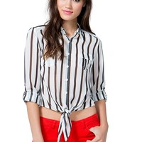 Twisted Lines Blouse