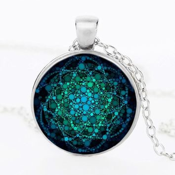 Flower of Life Necklace Pendant For Women