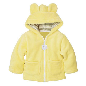 Baby Boy Girl Hooded Coat Winter Thick Newborn Infant Baby Clothes Cartoon Outerwear Jacket Amazing