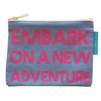 Embark On Adventure Canvas Pouch