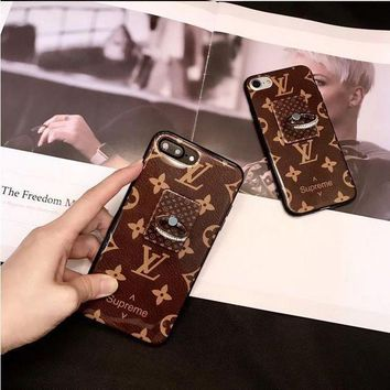 onetow One-nice? Perfect Louis Vuitton X Supreme Fashion Print iPhone Phone Cover Case For iphone 6 6s 6plus 6s-plus 7 7plus