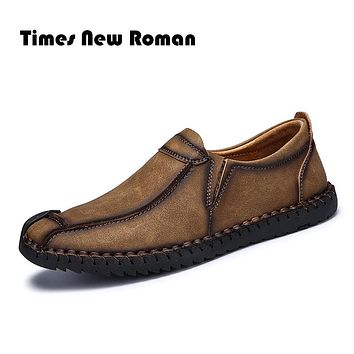 Flats New Arrival Casual Men Genuine Leather Shoes Handmade Moccasins Shoes