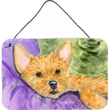 "Caroline's Treasures SS8898DS812 Norwich Terrier Indoor Aluminum Metal Wall or Door Hanging Prints, 8 x 12"", Multicolor"