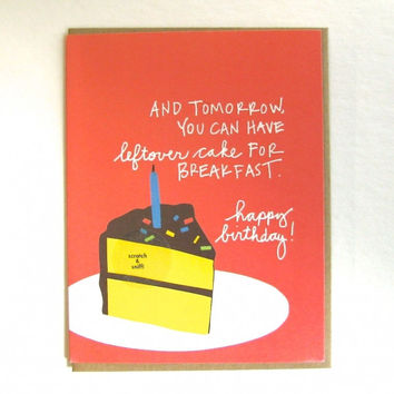 Scratch & Sniff Leftover Cake Birthday Greeting Card