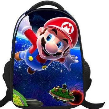 Super Mario party nes switch 16-Inch Cartoon Children Kids Backpacks Cartoon  Bag School For Girls Boys Teenagers Bags Mochilas Infantil Gift AT_80_8