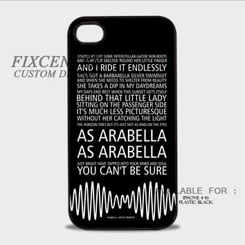Arctic Monkeys AM Arabella Song - iPhone 4/4S Case