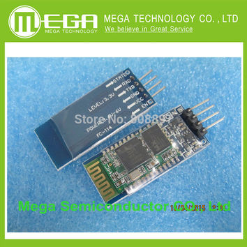 Free shipping 1pcs HC-06 HC06 JY-MCU BT BOARD V1.05 4pin Bluetooth serial pass-through wireless serial communication module