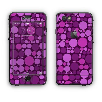The Purple Circles Pattern Apple iPhone 6 LifeProof Nuud Case Skin Set