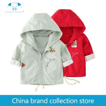 [PlayFul100] baby clothes coat hoodie jacket infant Newborn Baby Girls Boys Clothes Long sleeves Cotton 100% MD160Q034