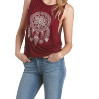 Crochet-Back Jeweled Dreamcatcher Tank Top