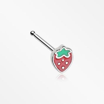 Adorable Strawberry Nose Stud Ring
