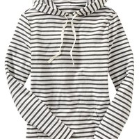 Women's Striped Hooded Pullovers