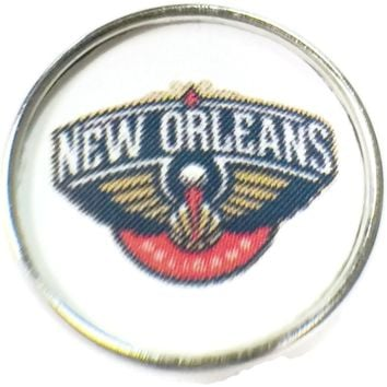 NBA Basketball Logo New Orleans Pelicans 18MM - 20MM Fashion Snap Jewelry Snap Charm New Item