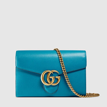 Gucci - gg marmont leather chain wallet 401232A7M0T4329