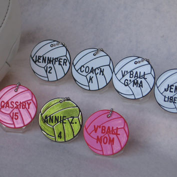 Gifts 4 Volleyball / Volleyball Bag Tags /  Personalized Volleyball Awards / Volleyball Gift