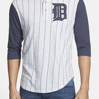 Men's Red Jacket 'Detroit Tigers - Double Play' Jersey Henley