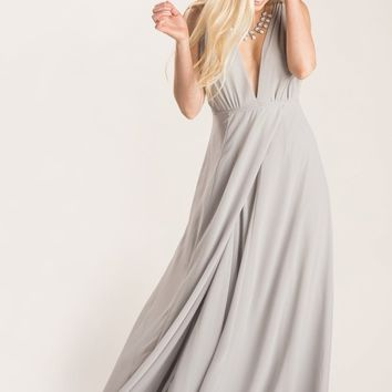 Skylar Grey Maxi Dress