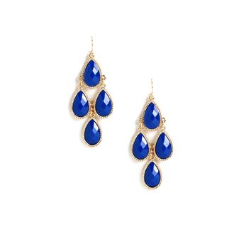 Sale- Royal Gem Kite Earrings