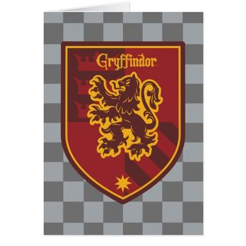 Harry Potter | Gryffindor House Pride Crest Card