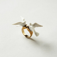 Perched Lovebirds Ring