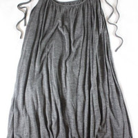 "~~~ SUCH A MUST ~~~ NWT $265 JENNI KAYNE GRAY ""TIE"" SHOULDER STRAP TANK TOP - XS"