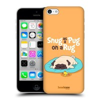 Head Case Designs Snug Piper The Pug Protective Snap-on Hard Back Case Cover for Apple iPhone 5c