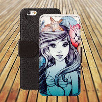 iphone 5 5s case Retro Mermaid iphone 4/ 4s iPhone 6 6 Plus iphone 5C Wallet Case , iPhone 5 Case, Cover, Cases colorful pattern L109