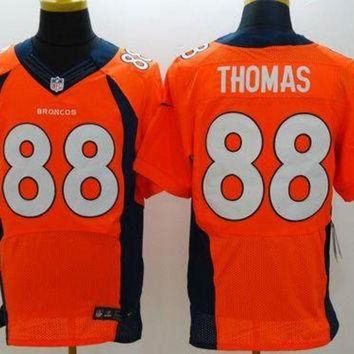 VLX9RV Nike Broncos #88 Demaryius Thomas Orange Team Color Men's Stitched NFL New Elite Jerse