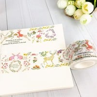 1X Kawaii Forest elk Decorative adhesive tapes Paper washi tape 30mm*10m for scrapbooking stationery school Office supplies