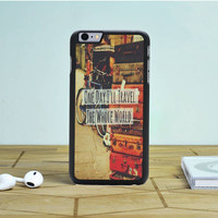 Travel Whole World Quote iPhone 6 Plus Case Dewantary