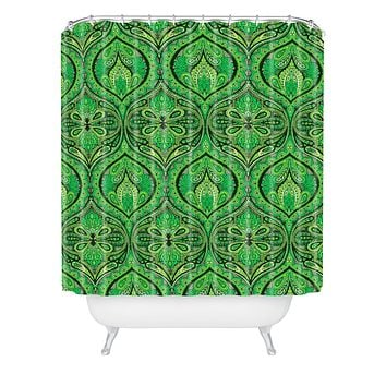 Aimee St Hill Ogee Green Shower Curtain