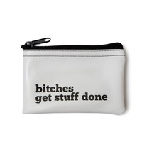 Bitches Vinyl Zip Pouch