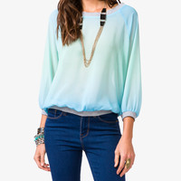 Ombré Chiffon Pullover