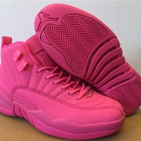 Air Jordan 12 GS Pink AJ 12 Women Basketball Shoes
