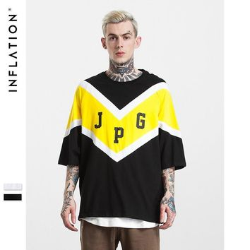 ca qiyif INFLATION Patchwork Casual Loose T-shirt