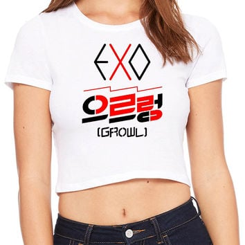 Exo Growl Logo Crop T-shirt